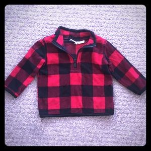 Koala kids buffalo plaid fleece jacket shirt 3-6M!
